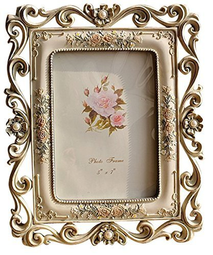 Giftgarden 5x7 Vintage Picture Frame for Wedding Family Photos, Desktop Vertically and Horizontally Display