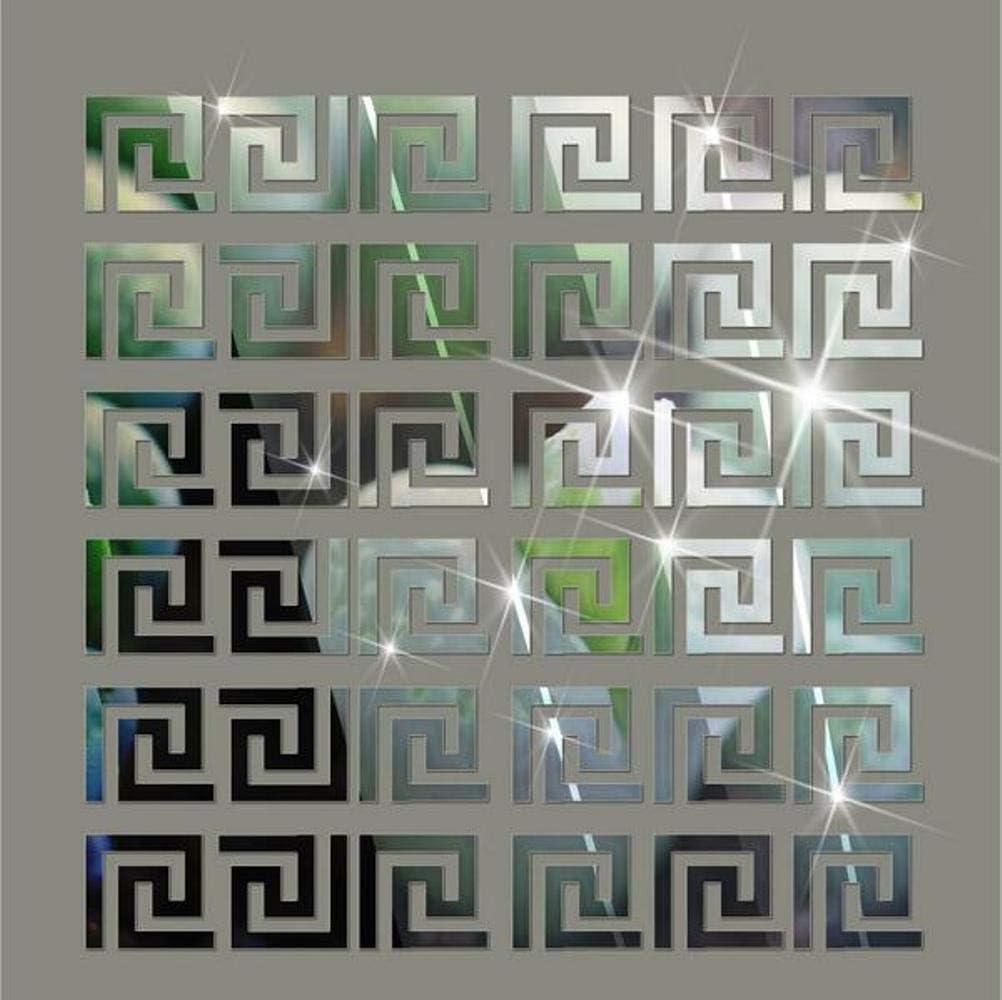 Himerus Mirror Wall online shopping Miami Mall Stickers Vintage Geometric Greek Key Pattern