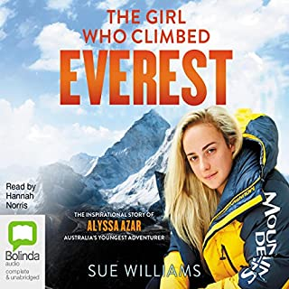 The Girl Who Climbed Everest audiobook cover art