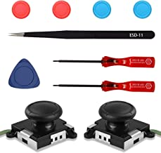 CONNYAM 2-Pack Joy-Con 3D Replacement Analog Joystick Thumb Stick Compatible with Nintendo Switch Joy-Con Controller - Include Tri-Wing, Cross Screwdriver, Pry Tools, Joystick Thumb Grips