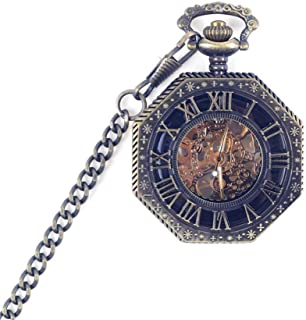 Retro Mechanical Pocket Watch Man And Women Students Hollowed Out Commemorative Pocket Watch Vintage Pocket Watch (Color : Bronze, Size : 4.7x1.5cm)