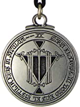 Pewter Talisman For Honor and Riches Pentacle Pendant