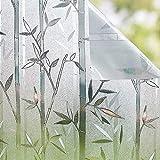 Shackcom Vinilo Película Cristal Ventana-90 * 400cm-Privacidad Pegatina sin Adhesivo - Decorativas para Electrostatica Translucido Anti UV- Cristal Laminas para hogar,Cocina, baño y Oficina-J035