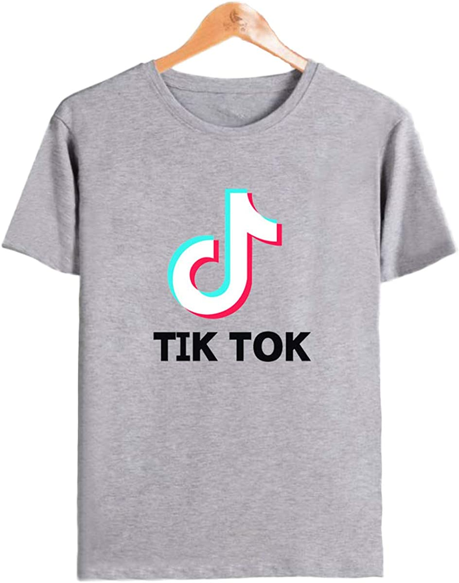 Fashion TIK Tok Patton Short Sleeve Short T Shirt for Men Boys