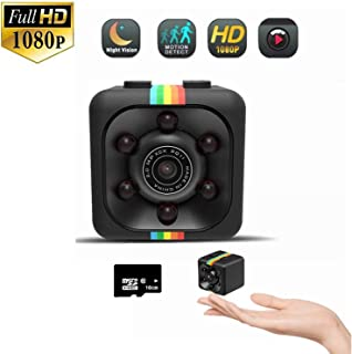 Mini Spy Camera,Hidden Camera 1080P Portable Small HD Nanny Cam with Night Vision and Motion Detection Security Camera for Home and Office