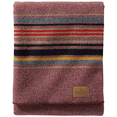 Pendleton Yakima Camp Wool Throw Blanket, RED Mountain, One Size