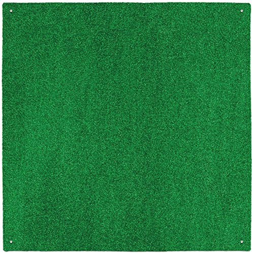 House, Home and More Outdoor Turf Rug - Green - 12 Feet X 12 Feet