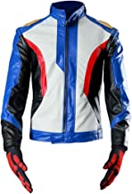 Another Me Men's Costume Soldier 76 PU Leather Embroidered Cosplay Jacket and Gloves Suit Male