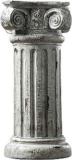 Mankvis Base De Columna Romana Antigua, Base De Columna Koslin Estatua Escultura Artesanías De Resina Decoración De Sala De Estar En Casa Decoración De Oficina Modelo Arquitectónico H44.5CM