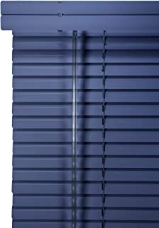 CHICOLOGY Custom Made Corded 1-Inch Aluminum Mini Blind, Blackout Horizontal Slats, Inside Mount, Room Darkening Perfect for Kitchen/Bedroom/Living Room/Office and More: 17