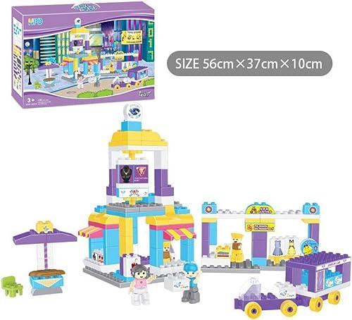 Kinder Bildungs-Geb e Spielzeug-Set glückliche Stra  der Stadt zu Hause Szene Szene kompatibel mit 151 Bl en