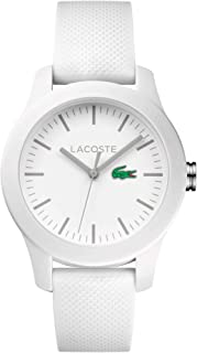 Lacoste Casual Watch Analog Display Quartz For Women 2000954, White Band