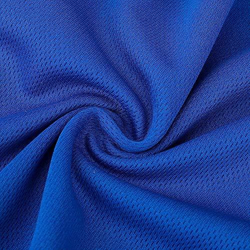 SKYSPER Radtrikot Herren Fahrradbekleidung Blaue Langarmjacke MTB Mountain für den Herbst Bequem Atmungsaktiv für Outdoor-Sportarten Fahrrad - 6