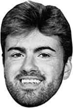George Michael (B&W) Celebrity Mask, Card Face and Fancy Dress Mask