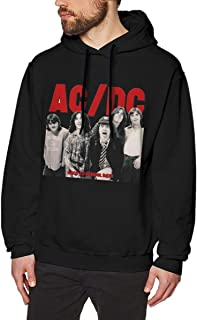 PhauaGt AC DC Back in Black Fashion Men's Hat and Pocketless Sweater Black