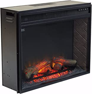 Signature Design by Ashley Entertainment Accessories Large Fireplace Insert Infrared Black