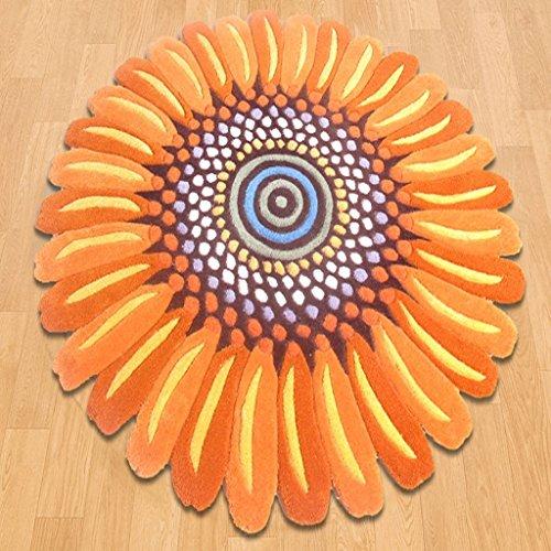 SYFO Mode Europa und Amerika Sonnenblume Acryl Wohnzimmer Couchtisch Hängenden Korb Yoga Stuhl Stuhl Schlafzimmer Nachttisch Studie Runde Teppich