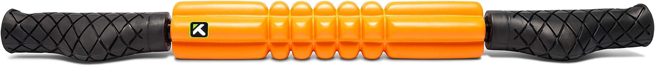 TriggerPoint Performance Grid STK Fasciarol, draagbare massageroller met handvat, oranje, 24''/53cm
