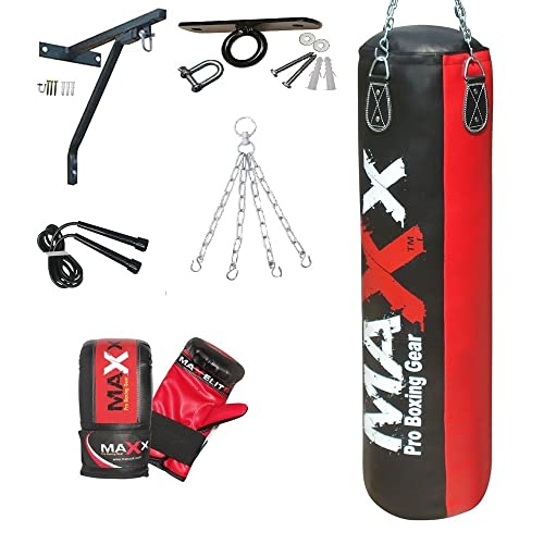MaXx Super Pro Leather Wall Mount Striking Punch Bag Gym Boxing Pads