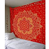 KHKJ Tapiz de Mandala Indio para Colgar en la Pared, tapices de...