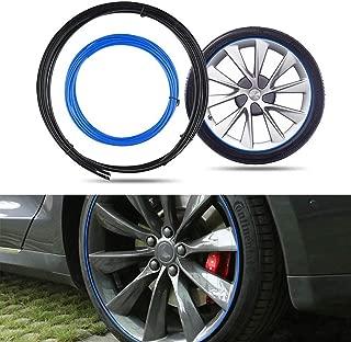 JOINAP Wheel Bands Kit Rim Protector for Tesla Model 3 - Blue