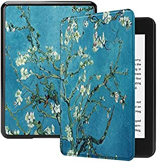 CHENJUAN Owl Butterfly Flower Dandelion Eiffel Tower Pattern Smart Tablet Case Trifold Stand Design for Amazon Kindle Paperwhite (10th Generation, 2018 Releases) (Pattern : 4)