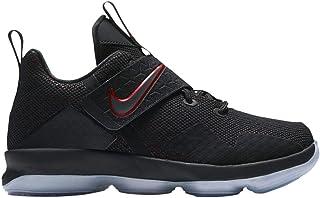 Nike Kid's Lebron XIV GS Basketball Shoes (Black/Black/University Red, 6 Big Kid US)