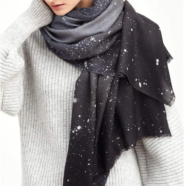 CHX Scarf Autumn Winter Nebula Pattern Soft Keep Warm Shawl 200cm×70cm Woman V