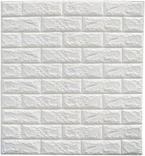 Brick Wallpaper-Masione 3D Wall Panels Peel and Stick Self-Adhesive Real Bricks Effect Wallpapers for Kids Room Bathroom Living Room TV Walls Sofa Background 174.39 sq.ft 30 Packs