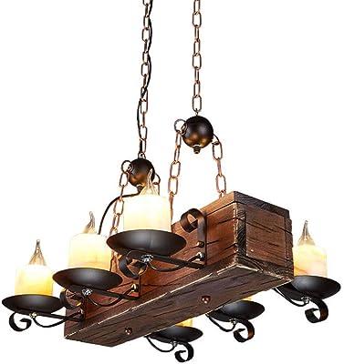 Lámpara de forja rústica Adalia - Grupo 2 - Cobre, Lámpara de 3 Luces Grande: Amazon.es: Hogar