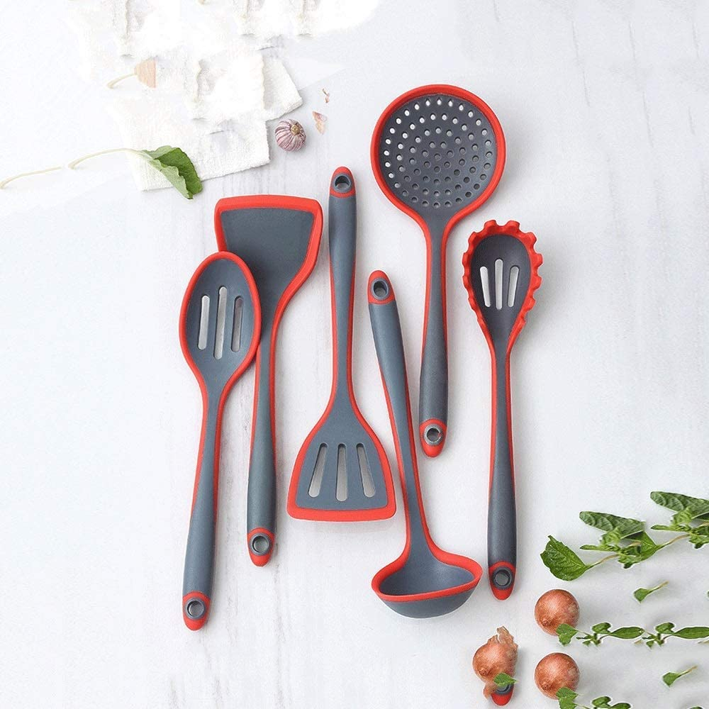 JINWEIH At the price Cooking Utensil Soup Memphis Mall Silicone Spoon Kitchen Kitchenware