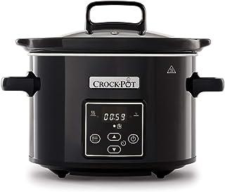 Crock-Pot CSC061X Olla de cocción lenta digital para preparar todo tipo de recetas, óptimo si cocinas para ti solo o para dos, 2.4 litros, Negro/Cromado