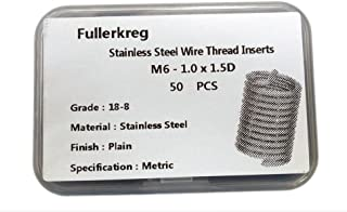 Fullerkreg UNC 1//2-13X2D Wire Thread Inserts,304 Stainless Steel,15Pcs