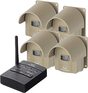 سیستم سنسور بی سیم هشدار دهنده 1/4 مایل Hosmart قابل شارژ سیستم و سنسور هشدار برای Driveway
