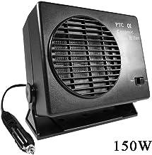 popchilli Calentador Electrico Portatil,Ventilador Caliente del Calentador De Cerámica del Coche 12V, 300W / 150W Well-Matched