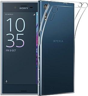 REY Funda Carcasa Gel Transparente para Sony Xperia XZ, Ultra Fina 0,33mm, Silicona TPU de Alta Resistencia y Flexibilidad