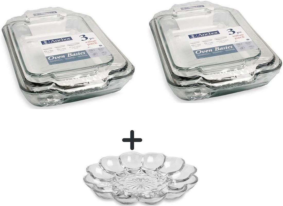 6 Pc Value Pack 2 Qt 1 89 L Bake Dish 3 Qt 2 8 L Bake Dish 5 Qt 4 7 L Bake Dish