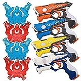 yofit Laser Tag Gun Set, Infrared Laser Tag Set with Vests, Infrared Laser Tag Blasters and Vests (4...
