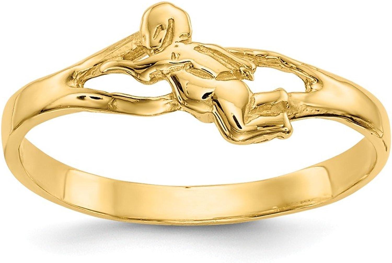 Beautiful Yellow gold 14K Yellowgold 14k Angel Baby Ring