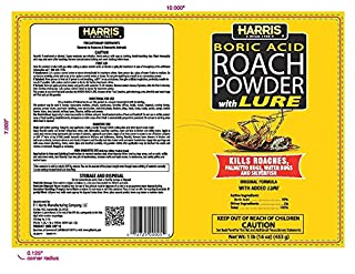 HARRIS Boric Acid Roach and Silverfish Killer Powder w/Lure (16oz) للبيع