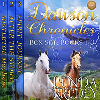 Dawson Chronicles Box Set, Books 1 - 3     Historical Western Cowboy Romance Bundle              By:                                                                                                                                 Linda Bridey                               Narrated by:                                                                                                                                 Mary Ann Weathers                      Length: 23 hrs and 14 mins     37 ratings     Overall 4.4
