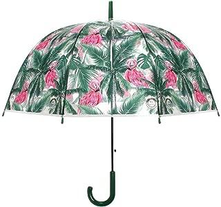 iMucci Dream Catcher POE Umbrella Clear Bubble Transparent Umbrella Automatic Open Umbrella Outdoor 4 Colors Rain Umbrella for Girls Women Gifts