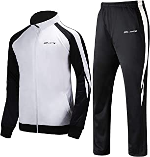 Men's Outdoor 2 Piece Jacket Pants Track Suit Sport Sweat Suit Set