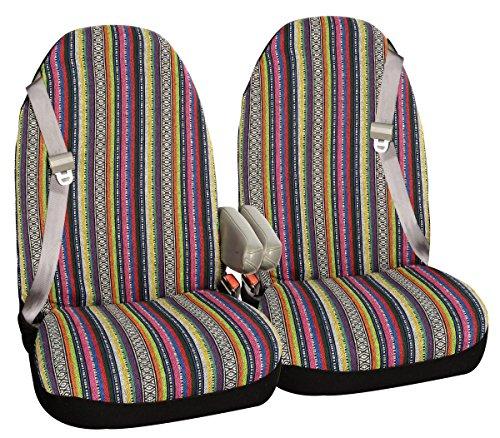 Allison 67-2220 Multi-Color Large Prairie Stripe SUV Bucket Seat Cover - Pair