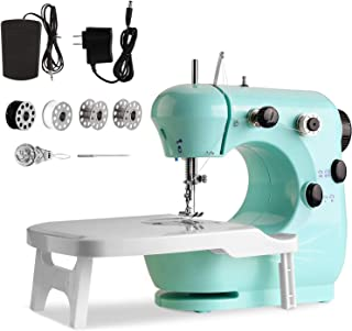 Mini Sewing Machine, WADEO Portable Sewing Machine for Beginners, with Extension Table, Suitable for Household DIY, Sewing...