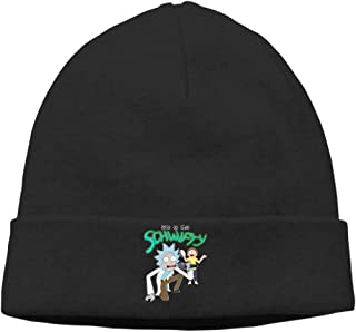 OPUY Unisex Morty It's Time to Get Schwifty Rick Beanie Cap Hat Ski Hat Cap Skull Cap Black