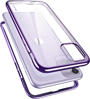 SUPCASE [Unicorn Beetle Electro Series] Designed for Apple iPhone 11 2019 6.1 inch Case, Metallic Electroplated Edges, Slim Full-Body Protective Case with Built-in Screen Protector (Purple)