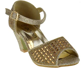 La Redoute Collections Big Girls Sparkly Sandals Yellow Size 35 2.5 To 3