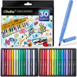 Fabric Markers Pen, Ohuhu 30 Colors Permanent Fabric Paint Marker Pens for DIY Costumes, T-Shirt, Clothes, Shoes, Bags, Canvas, Handbags, Graduation Signatures, Fabric Pens for Kids Adult Mother's Day