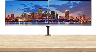 HP EliteDisplay E223 21.5 Inch IPS LED Backlit Monitor (1FH45A8#ABA) 2-Pack Display Bundle with Fully Adjustable Dual Monitor Stand and Desk Mount Clamp